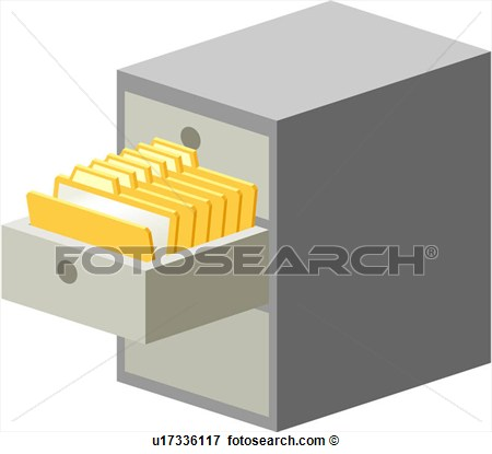 Document Storage Filing Cabinet Folder View Large Clip Art Graphic