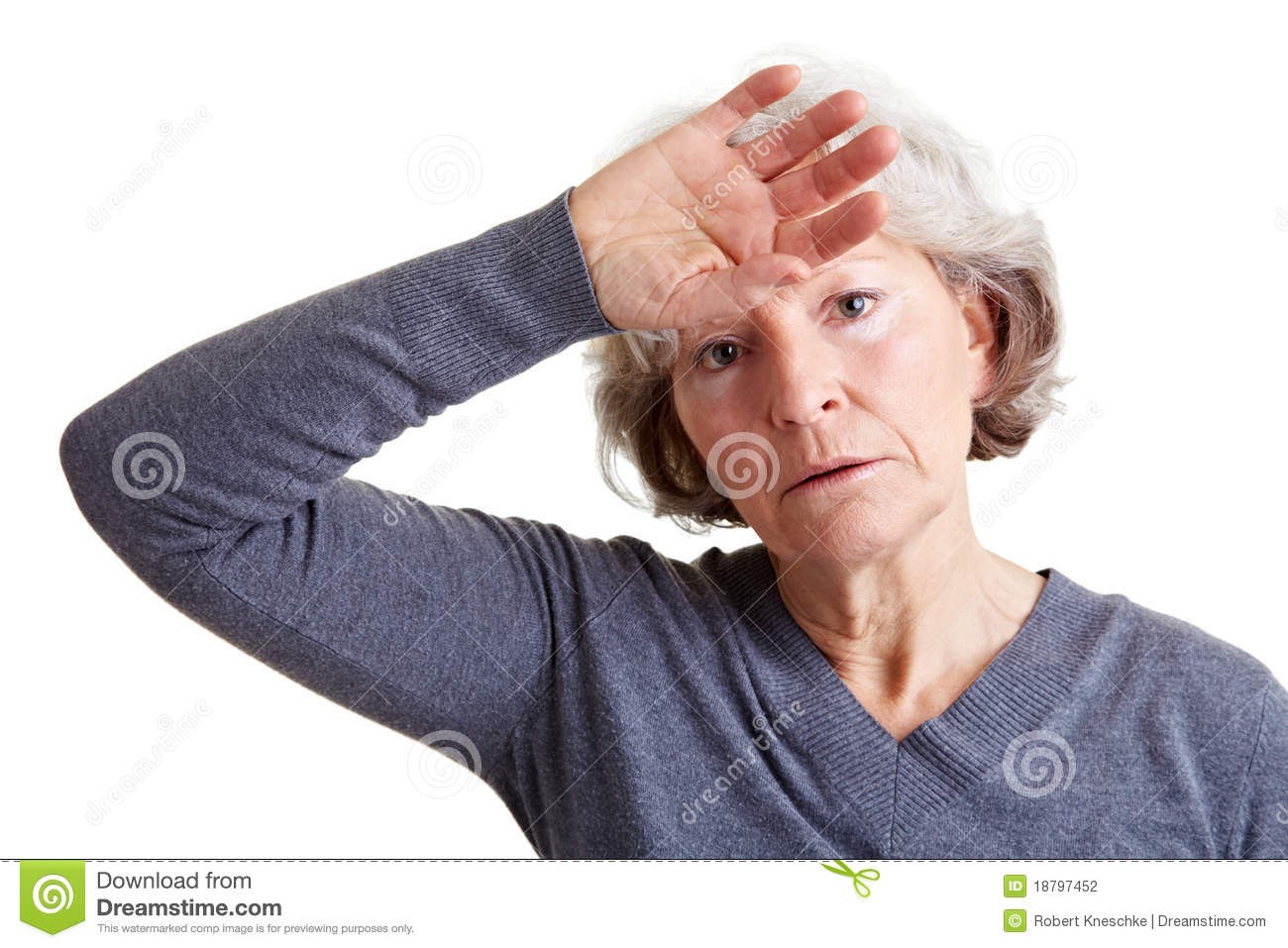 Exhausted Senior Woman Stock Photography   Image  18797452