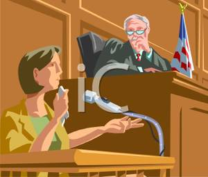 To A Tearful Witness During A Trial   Royalty Free Clipart Picture