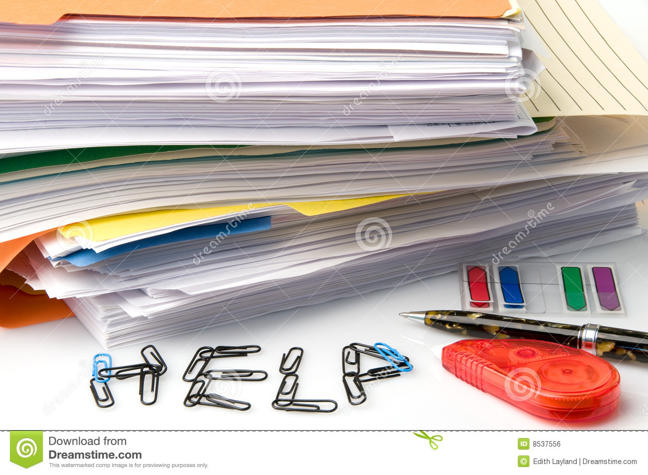 Too Much Paperwork Royalty Free Stock Image   Image  8537556