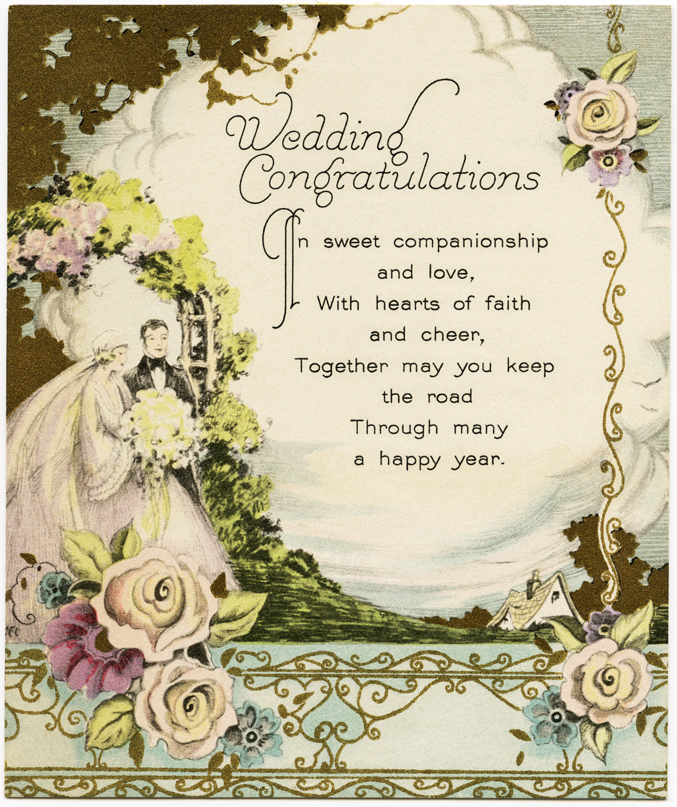 Vintage Wedding Congratulations   Old Design Shop Blog