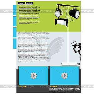 Visual Art Web Page Layout   Vector Clip Art