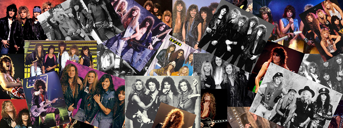 80s Hair Bands Collage Best 80s Rock   Metal 24 7