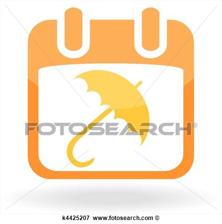 Clip Art   Calendar With Umbrella  Fotosearch   Search Clipart