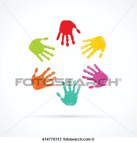 Clipart   Colorful Hands  Fotosearch   Search Clip Art Illustration