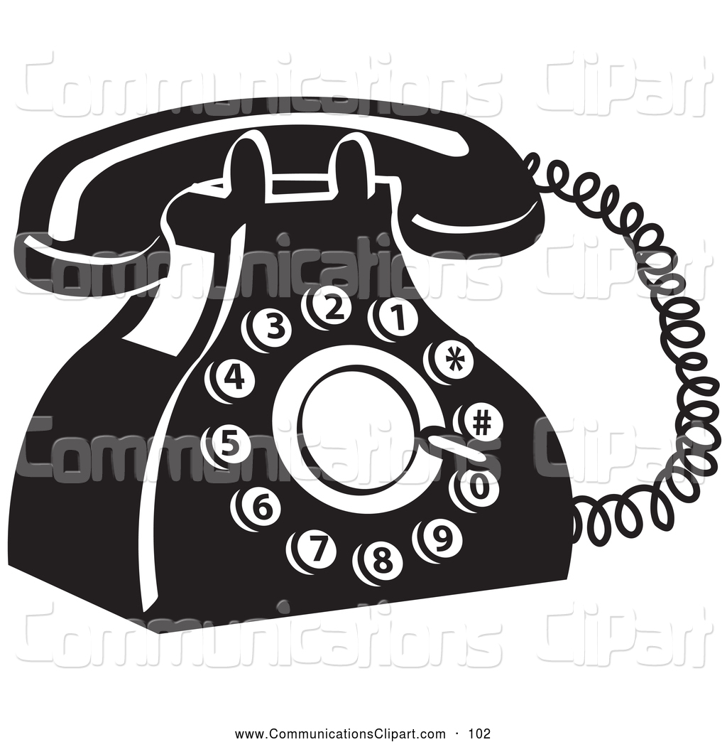 Clipart Of A Retro Old Fashioned Rotary Landline Telephone By Andy