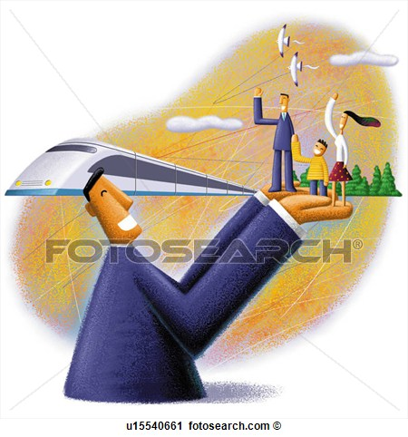 Clipart Of Railway People Tour Oil Painting Life Safety Computer