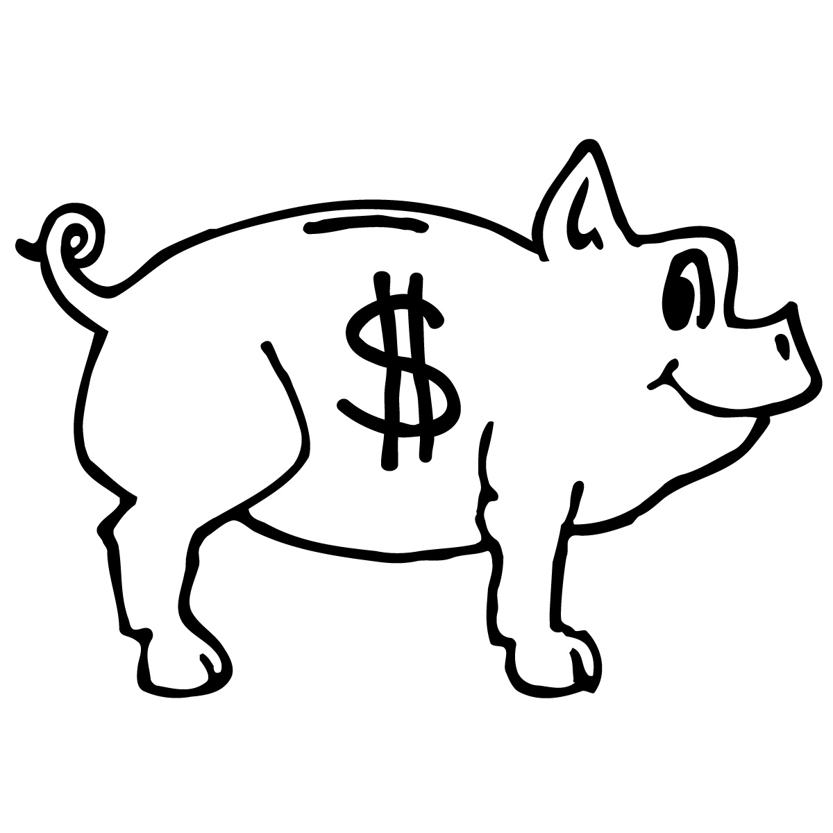 Coin Money Clipart Black And White   Clipart Panda   Free Clipart