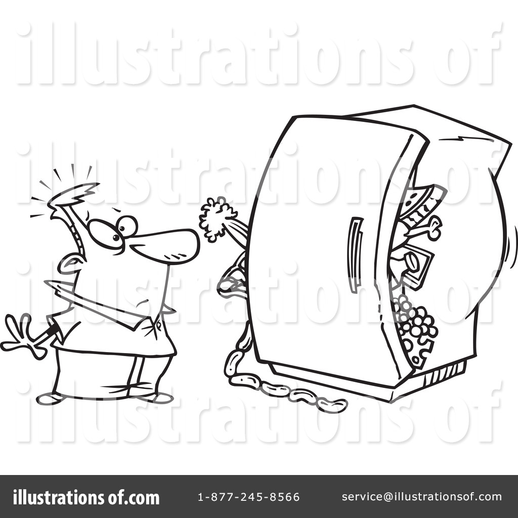 Dirty Refrigerator Clipart