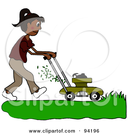 Free  Rf  Clipart Illustration Of A 3d Green Lawn Mower By Kj