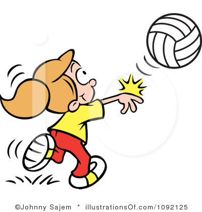 Free Volleyball Clipart Black And White   Clipart Panda   Free Clipart