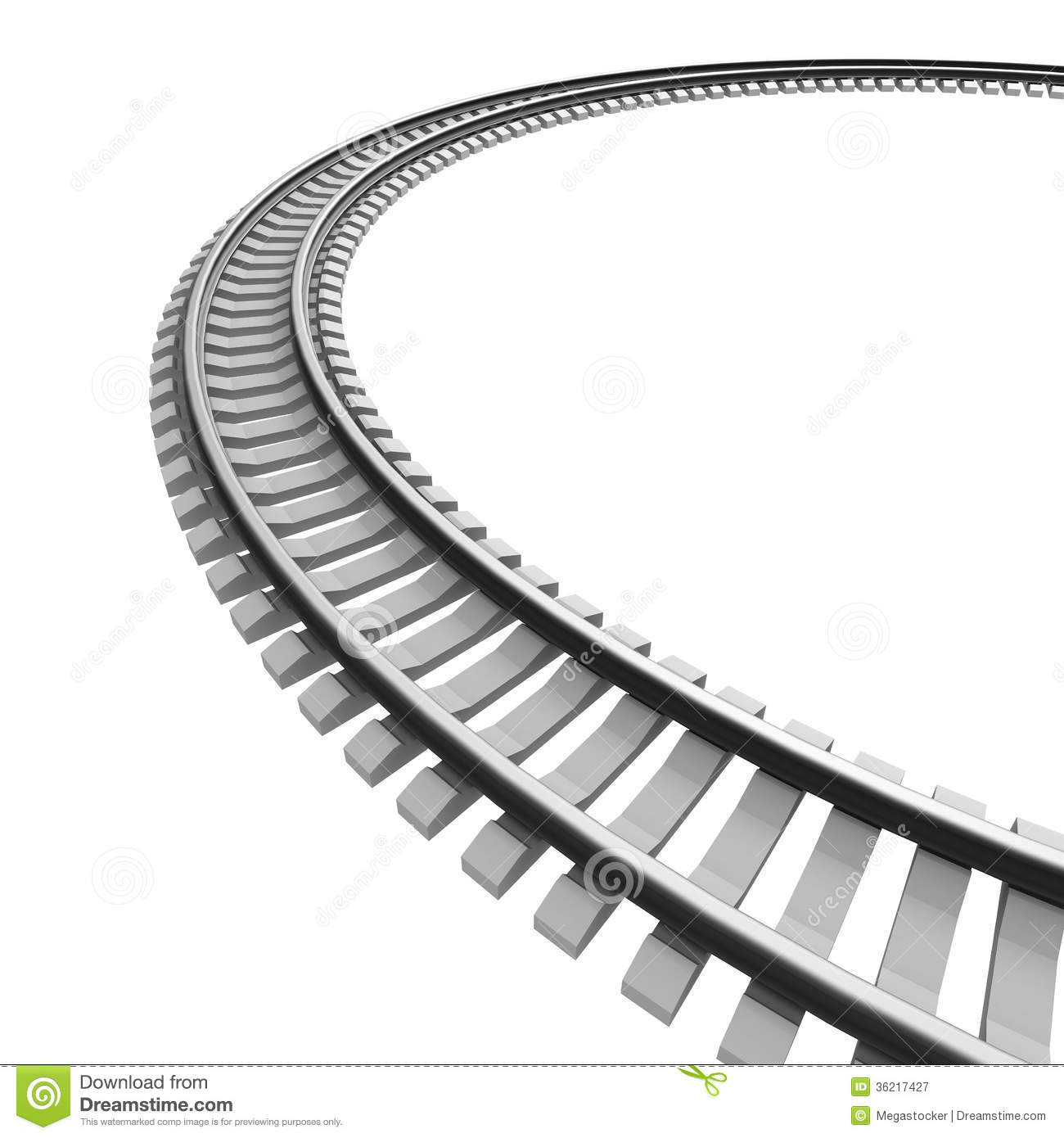 Curved Train Track Clipart - Clipart Suggest