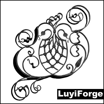 Hand Forged Wrought Iron Reflection Tree Clipart