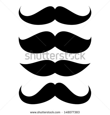 Mexican Mustache Clip Art Set Of Mustache