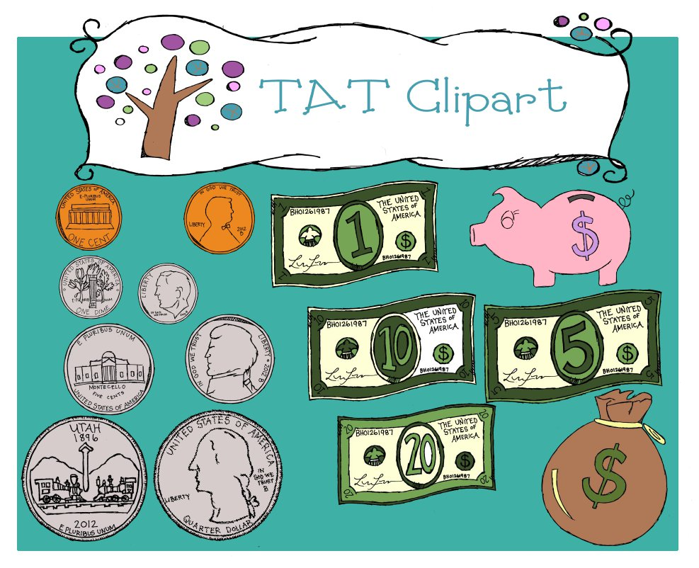 Money Clipart For Teachers My Money Clipart Has Finally