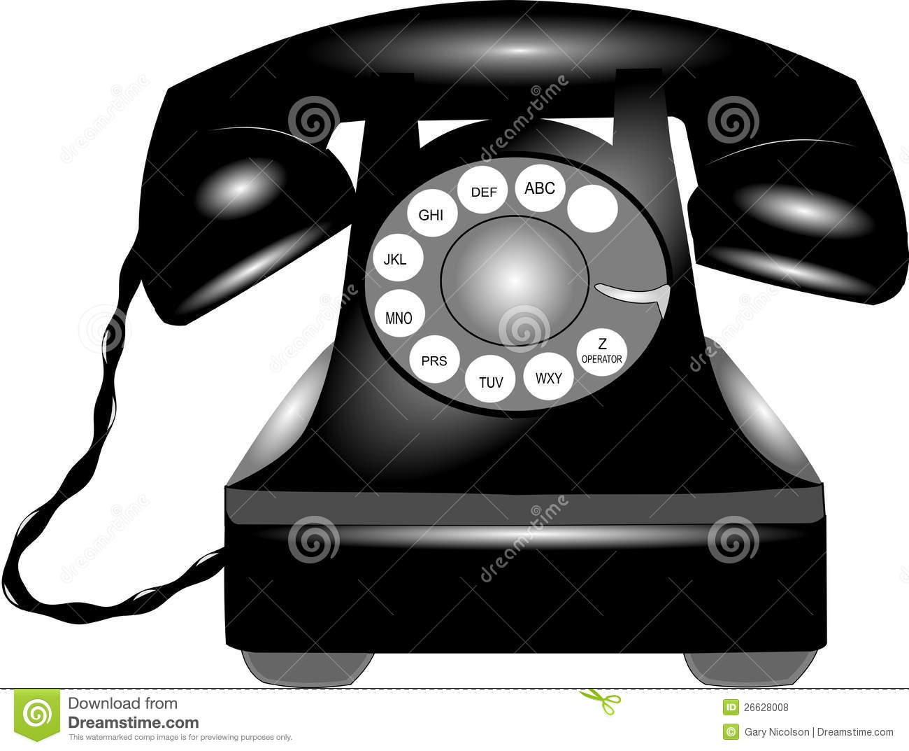 Old Rotary Phone Clipart Rotary Telephone From Fifties