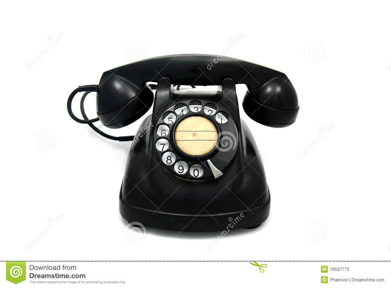 Old Telephone With Rotary Dial Stock Photos   Image  19537773