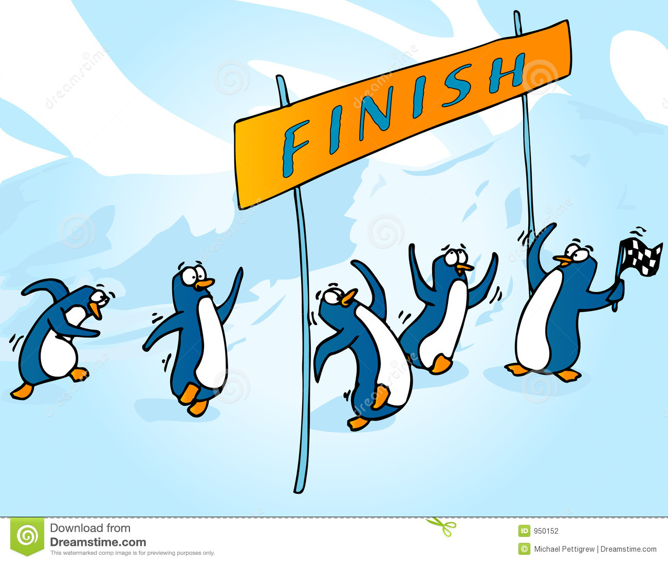 Penguin Race Stock Photography   Image  950152