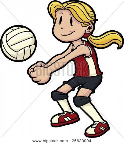 Picture Or Photo Of Girl Playing Volleyball  Girl And Volleyball On