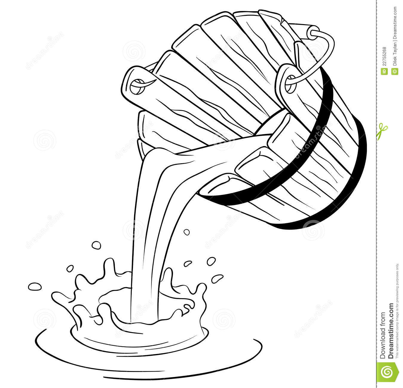 Pouring Milk From Bucket Royalty Free Stock Photos   Image  22755268