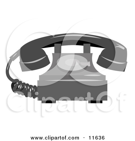 Rotary Landline Telephone Clipart Illustration By Geo Images  11636