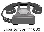 Rotary Landline Telephone Clipart Illustration