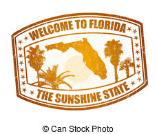 Welcome To Florida Stamp   Welcome To Florida Travel Stamp