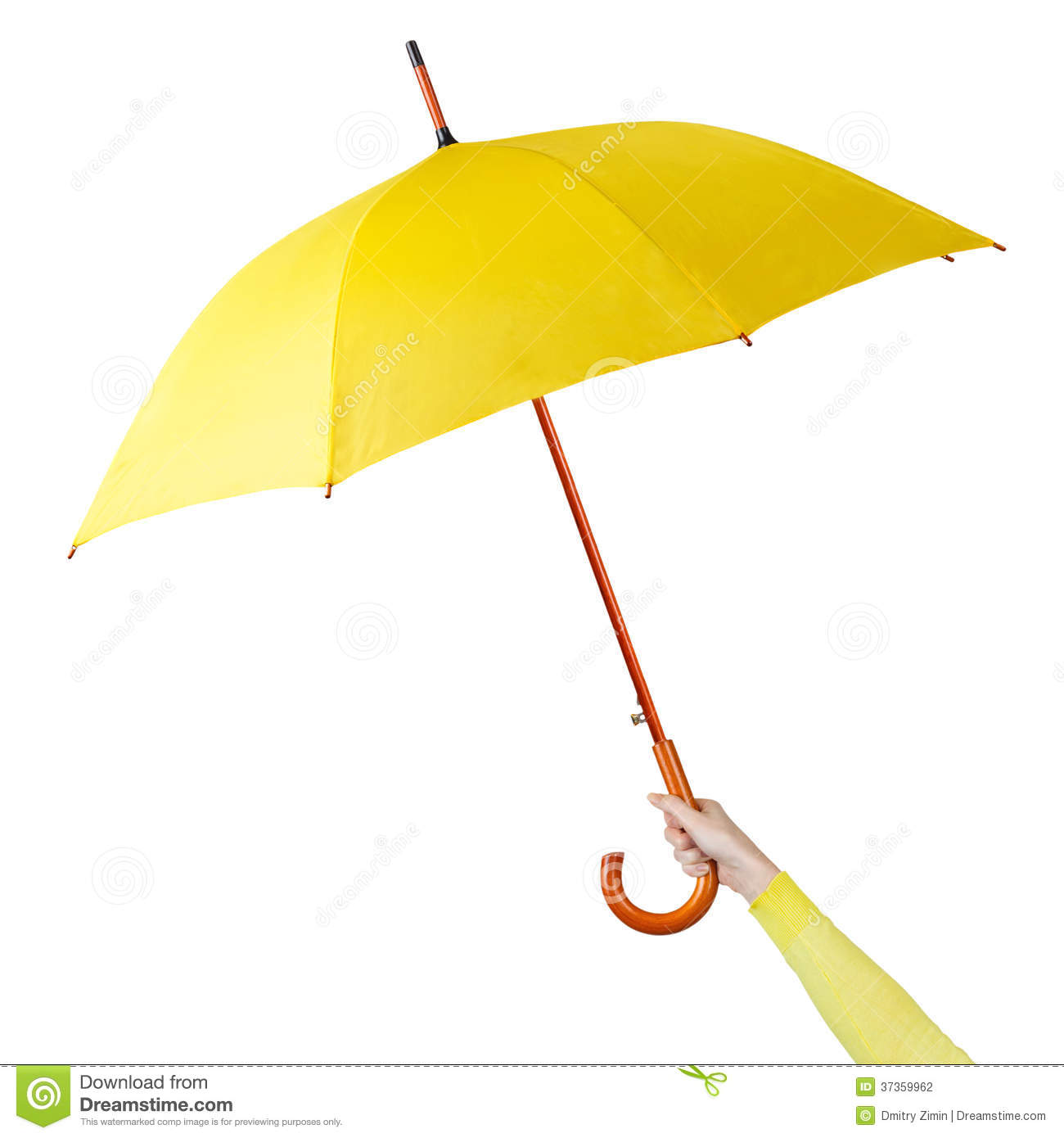 Yellow Umbrella Clipart Clip Art Yellow Umbrella Hand ...