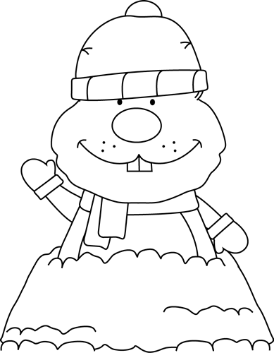 Black And White Groundhog Clipart - Clipart Kid