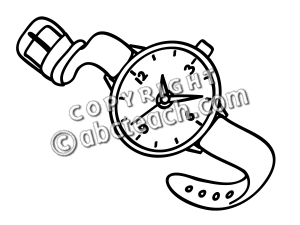Clip Art  Basic Words  Watch  Coloring Page    Preview 1