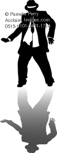 Clip Art Image Of A Chubby Guy Dancing With His Shadow   Acclaim Stock