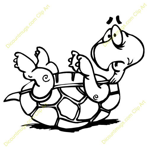 Clipart 11455 Cartoon Upside Down Turtle   Cartoon Upside Down Turtle