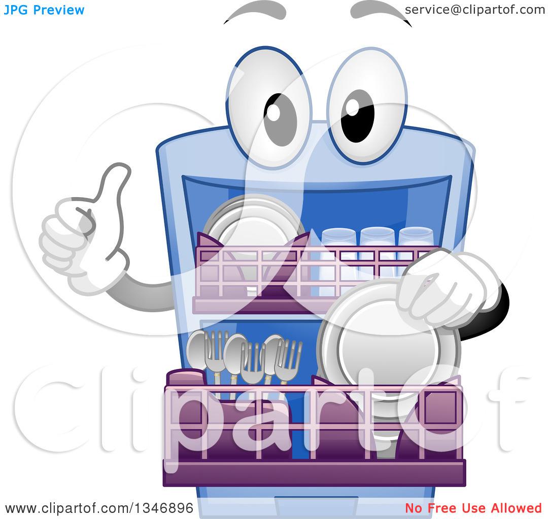 Dishwasher Clip Art ~ Dishwasher cartoon clipart kid