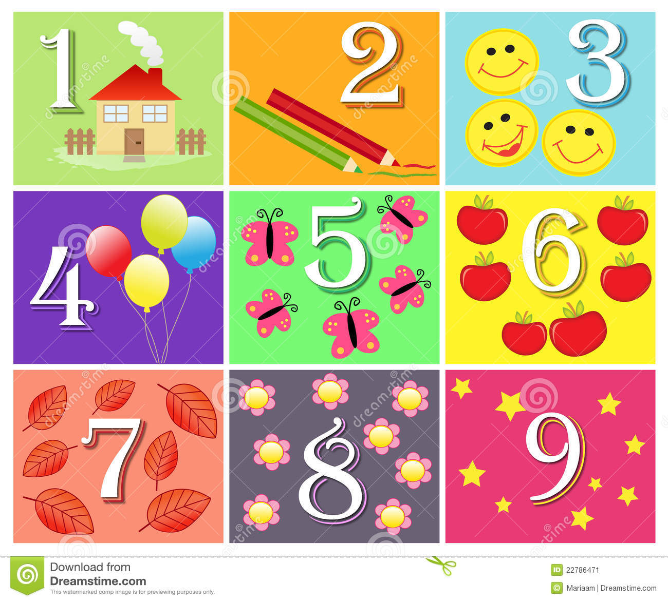 Counting Game For Children With The Numbers 1 To 9