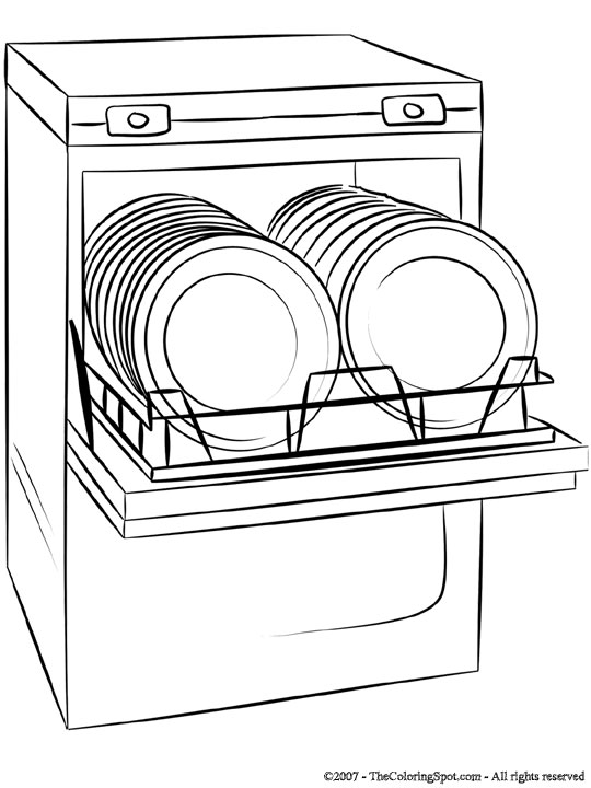 dishwasher cartoon clipart