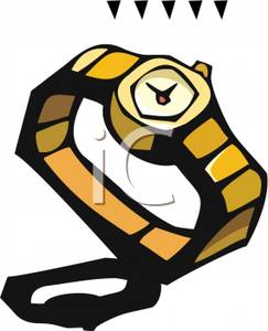 Gold Watch   Royalty Free Clipart Picture