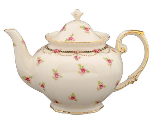 Gracie China Pink Petite Fleur Porcelain 3 Cup Tea Pot