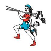 House Cleaning  House Cleaning Lady Clip Art