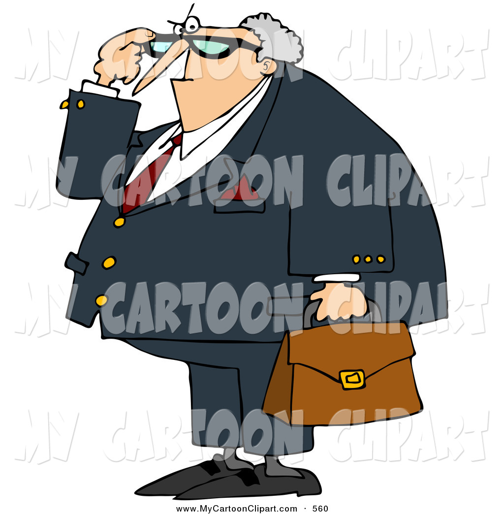 Larger Preview  Clip Art Of A Fat Angry Male Attorney By Dennis Cox