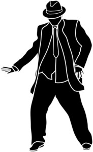 Man Dancing Clipart Image   Chubby Guy Wearing Suit Dancing Silhouette