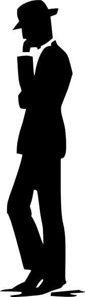 Man Walking Talking On Cell Phone Silhouette Clip Art At Clker Com