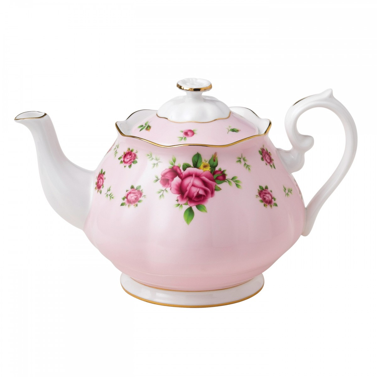 New Country Roses Pink Vintage Teapot   Royal Albert   Us