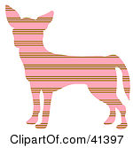 Pink And Brown Profiled Chihuahua Dog With Horizontal Stripes