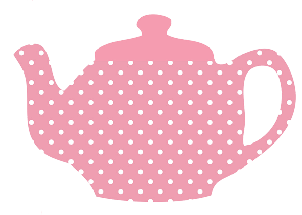 Pink Teapot For Tea Party Png Pink Cup Cake Png