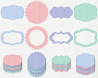 Preppy Stripes Clipart   Red And Blue Seersucker Clip Art   Striped