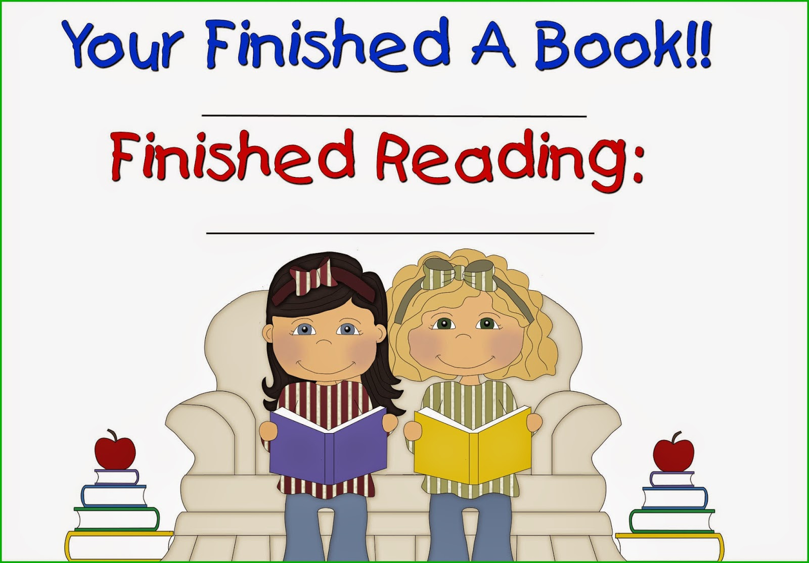 Resale Clipart  You Finished A Book Award Freebie