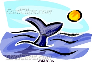 Whale Watching Vector Clip Art