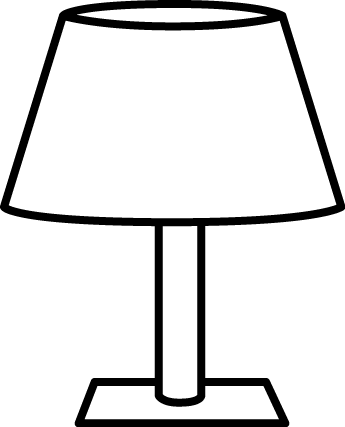 And White Table Lamp Clip Art Image   Tall Black And White Table Lamp
