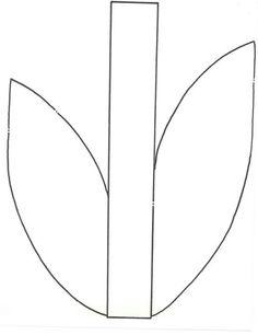 Flower Stem And Leaf Clipart