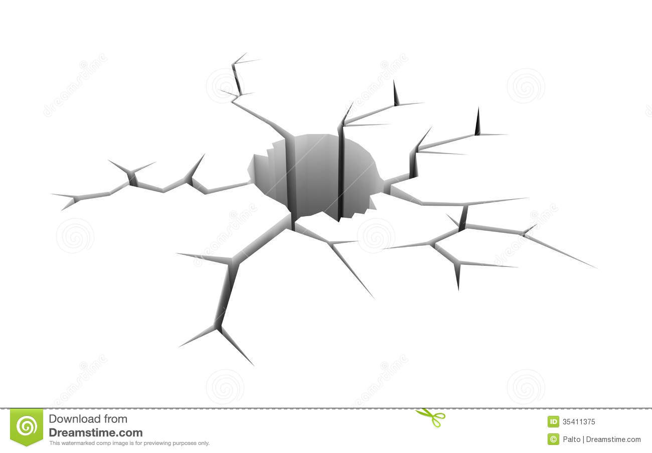 Hole In Ground Clipart Cracked Ground In The Form Of